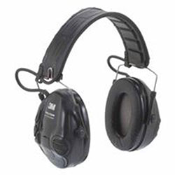 3M Peltor Tactical Sport Electronic Headsets, 20 dB NRR, Black, Over the Head