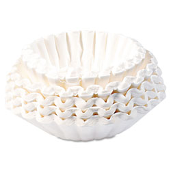 Bunn Flat Bottom Coffee Filters, Paper, 12-Cup Size