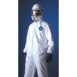 Dupont Tyvrk Coverall Zip Ft Hd Elas Wrist & An
