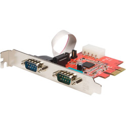 Startech 2 Port Dual Profile PCI-Express 16C950 UART Serial Card - Serial Adapter - 2 Ports