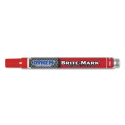 Dykem BRITE-MARK Layout Marking Pen, Medium Point, Red