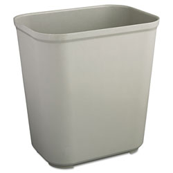 Rubbermaid Gray Fiberglass Fire-Safe Trash Can, 15 Gallon, Rectangle