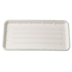 "Genpak 25SYL Yellow Foam Meat Tray, 8"" x 14 3/4"" x 1 1/16"""