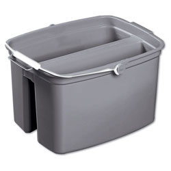 Rubbermaid Brute Commercial Double Utility Pail, Gray