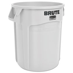 Rubbermaid Round Brute Container, Plastic, 20 gal, White