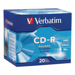 Verbatim 20 x CD-R - 700 MB (80min) 52X - Slim Jewel Case - Storage Media
