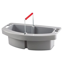 Rubbermaid Maid Caddy, 2-Compartment, 16w x 9d x 5h, Gray