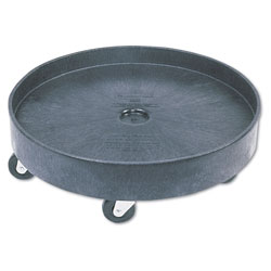 Rubbermaid Brute Container Universal Drum Dolly, 500 lb Capacity, 24.38 x 7.13, Black