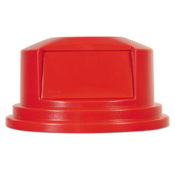 Rubbermaid Round BRUTE Dome Top Lid for 55 gal Waste Containers, 27.25 in diameter, Red