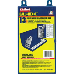 Eklind Tool Company 13 Piece Metric Ball Series Hex Key Set