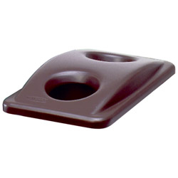 Rubbermaid Bottle and Can Recycling Top for Slim Jim® Containers, Brown