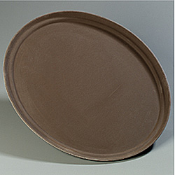 Carlisle Foodservice Products Toffee Tan Griptite Oval Tray, 22 1/16""