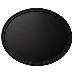 Cambro Tray Camtread 22 in X 27 in Oval Black