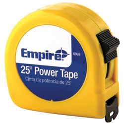 "Empire Level 1"" x 25' Power Measuring Tape w/Neon Yell"