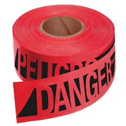 Empire Level Safety Barricade Tape, 500 ft, Red