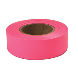 "Empire Level 77003 Glo Pink 1"" x 200' Plastic Flaggig Tape"