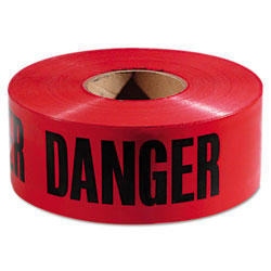 Empire Level Danger Barricade Tape,  inDanger in Text, 3 in x 1000ft, Red/Black