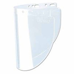 Fibre-Metal High Performance Faceshield Windows, Clear/Clear, Extended View, 19 x 9 3/4