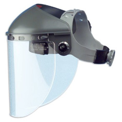 Fibre-Metal High Performance Faceshield Headgear, 4 in Crown