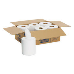 Sofpull Center-Pull Perforated Paper Towels,7 4/5x15, White,320/Roll,6 Rolls/Ctn