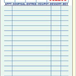 National Check GuestCheck Carbonless 2 Part 19 Line Food Service Pad