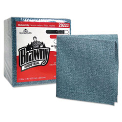 Brawny Medium Duty Cleaning Wipes, Blue, Case of 8