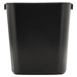 Rubbermaid Rectangle Plastic Desk Wastebasket, 13.5 Quart, Black