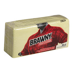 Brawny Dusting Cloths, Yellow, Case of 4