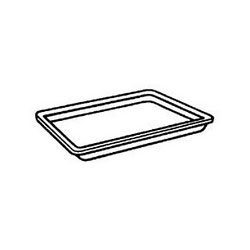 "Genpak 2SYL Yellow Foam Meat Tray, 8 1/4"" x 5 3/4"" x 1/2"""