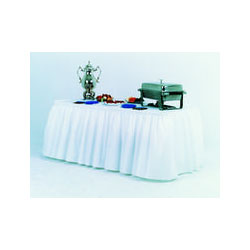 Atlantis Plastics 2TBSKW White Heavy Duty Plastic Embossed Table Skirting