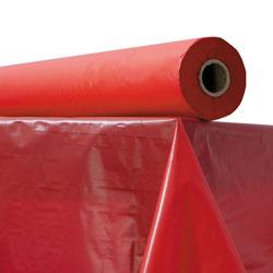 Atlantis Plastics Plastic Table Cover, 40 in x 300 ft Roll, Red