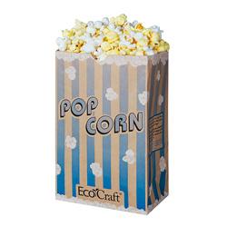Ecocraft Theater Popcorn Bag 85oz Blue Stripe