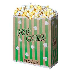 Ecocraft Theater Popcorn Bag 130oz Green Stripe