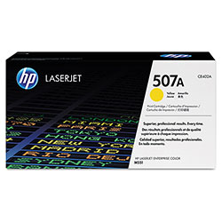 HP 507A, (CE402A) Yellow Original LaserJet Toner Cartridge