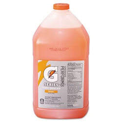 Gatorade Sports Drink Liquid Concentrate, Orange, Yields 1 Gallon, Case of 4