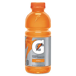 Gatorade Sports Drink, Wide Mouth Bottle, Orange, 20 Oz, Case of 24