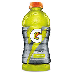 Gatorade Sports Drink, Wide Mouth Bottle, Lemon Lime, 20 Oz, Case of 24