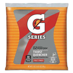 Gatorade Sports Drink Powder, Fruit Punch, Yields 2-1/2 Gallons, 1 Case