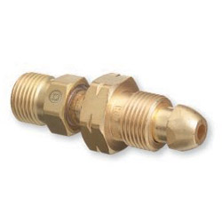 "Western Enterprises Cga 510 Nut/nip"" x Cga 300 Adapter"