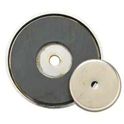 """General Tools 3-1/4"""" Diameter Shallow Potmagnet 50-lb Pull"""