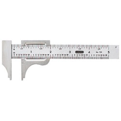"General Tools Pocket Caliper 0-4"" range Stainless 16th 32n"