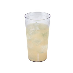 Cambro 32 Oz Hot/Cold Plastic Tumblers, Clear, Pack of 24