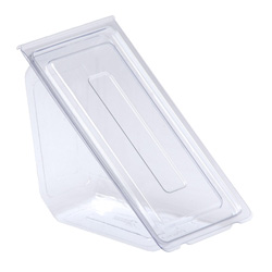 Anchor Packaging Hinged Sandwich Wedge, Clear