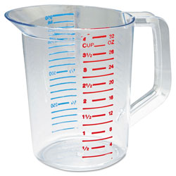 Rubbermaid Clear Bouncer Measuring Cups 1 Quart