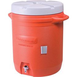Rubbermaid 7 Gal Orange Plastic Water Cooler 1655