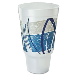 Dart Container 32AJ20E Impulse Design 32 Ounce Foam Cups with Pedestal