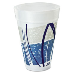Dart Container 32TJ32E Impulse Design 32 Ounce Foam Cups