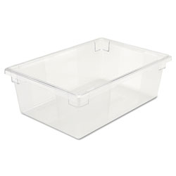 Rubbermaid Food/Tote Boxes, 12 1/2gal, 26w x 18d x 9h, Clear