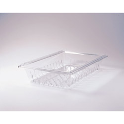 Rubbermaid Clear Carbx Colander/Drain Tray