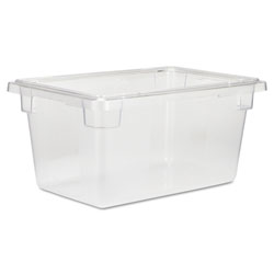 Rubbermaid Food/Tote Boxes, 5gal, 12w x 18d x 9h, Clear